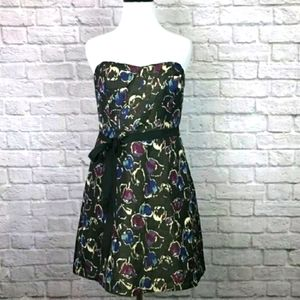 American Eagle Strapless Floral Dress.